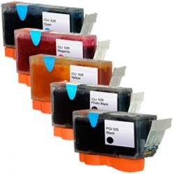 Sada Canon PGI-525 / CLI-526 (PGI525, PGI-525BK,CLI-526C, CLI-526M,CLI-526Y) PIXMA-kompatibilní inkoustové náplně (cartridge)