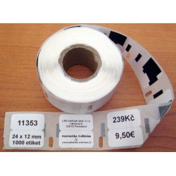 Etikety / Štítky Dymo Label Writer 24x12mm, 11353, S0822530 1000ks kompatibilní - DYMO