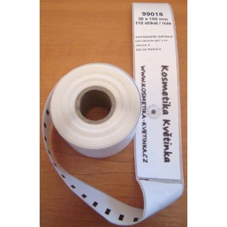 Etikety / Štítky Dymo Label Writer 190x38mm, 99018, S0722470, 110ks kompatibilní - DYMO