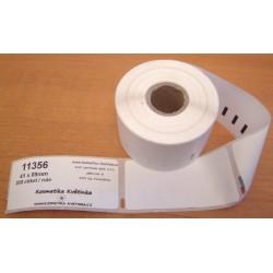 Etikety / Štítky Dymo Label Writer 89x41mm, 11356, S0722560, 300ks kompatibilní - DYMO
