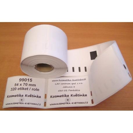 Etikety / Štítky Dymo Label Writer 70x54mm , 99015, S0722440, 320ks kompatibilní
