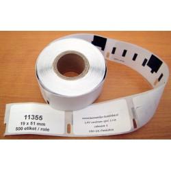 Etikety / Štítky Dymo Label Writer 51x19mm, 11355, S0722550,  500ks kompatibilní - DYMO