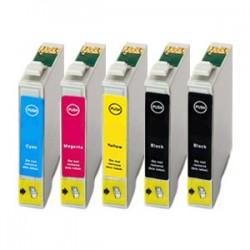 Sada 5ks Epson T1295 (2x T1291, T1292, T1293, T1294) Epson Stylus - kompatibilní inkoustové náplně (cartridge) - Epson