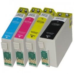 Sada 4ks Epson T1306 (T1301, T1302, T1303, T1304, T1305) Epson Stylus - kompatibilní inkoustové náplně (cartridge)