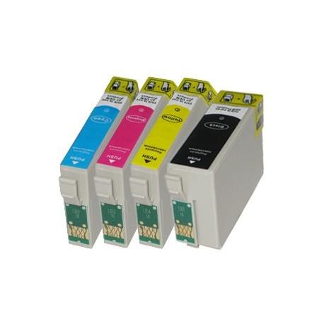 Sada 4ks Epson T1306 (T1301, T1302, T1303, T1304, T1305) Epson Stylus - kompatibilní inkoustové náplně (cartridge) - Epson - Kos