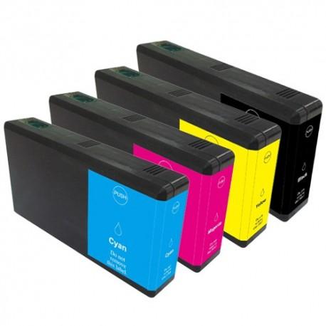 Sada 4ks Epson T7015 (T7011, T7012, T7013, T7014) Epson Workforce Pro - kompatibilní inkoustové náplně (cartridge)