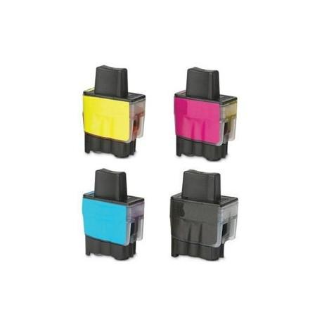 Sada 4ks Brother LC900 XL - DCP-110, 115, 310, MFC-210, 425, 3240 - kompatibilní inkoustové náplně (cartridge)