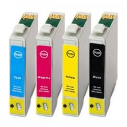 Sada 4ks Epson T0715 (T0711 T0712 T0713 T0714) Epson Stylus - kompatibilní inkoustové náplně (cartridge) - Epson