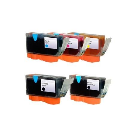 Sada Canon PGI-520 / CLI-521 (PGI520, CLI521) PIXMA - kompatibilní inkoustové náplně (cartridge) - Canon