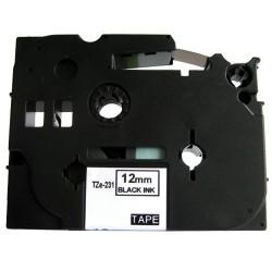 Páska (štítky) Brother TZe-231 pro štítkovače P-Touch 1000, 1000BTS, 1000F, 1005, 1005BTS, 1005F, 1005FB, 1010, 1080, 1090, 1200
