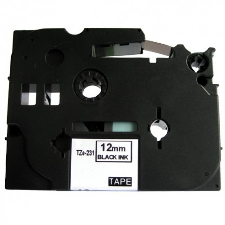 Páska (štítky) Brother TZ-231 pro štítkovače P-Touch 1000, 1000BTS, 1000F, 1005, 1005BTS, 1005F, 1005FB, 1010, 1080, 1090, 1200