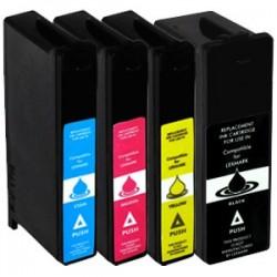 Sada Lexmark 100  XL (14N1068E, 14N912E) pro S302 / S508 / S405 / S608 - kompatibilní inkoustové náplně (cartridge)  - Lexmark