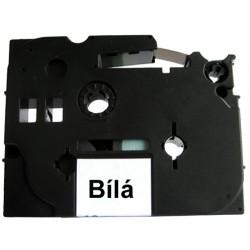 Páska (štítky) Brother TZ-221 (TZE221 P-touch), 9mm, délka 8m, černá / bíla, laminovaná - kompatibilní