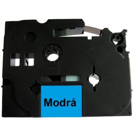 Páska (štítky) Brother TZ-531 (TZE531 P-touch), 12mm, délka 8m, černá / modrá, laminovaná