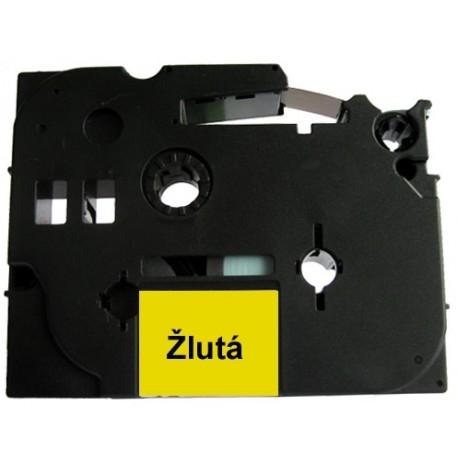 Páska (štítky) Brother TZ-631 (TZE631 P-touch), 12mm, délka 8m, černá / žlutá, laminovaná - kompatibilní