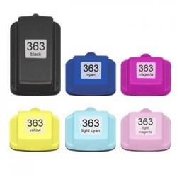 Sada 6ks HP 363XL (364 XXL)  s čipem HP Photosmart 3100, 3110, 8250, 7100, 6250 - kompatibilní inkoustové náplně (cartridge)
