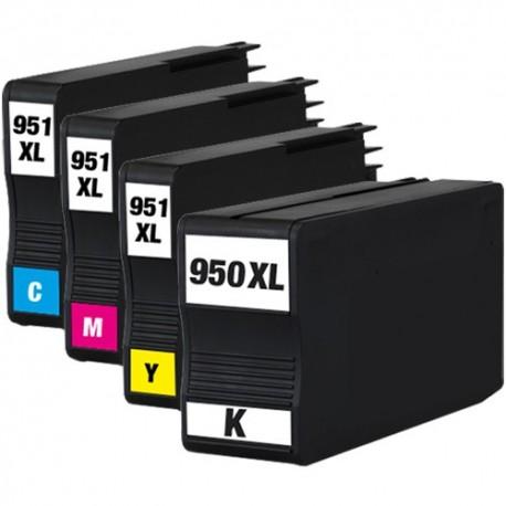 Sada 4ks HP 950XL / 951XL (950 XL, 951 XL)  s čipem HP Officejet Pro 8100, 8600 - kompatibilní inkoustové náplně (cartridge)