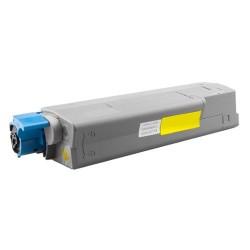 Toner Oki C610 44315305 žlutý (yellow) 6000 stran kompatibilní - Oki C610DN, C610N, C610DTN