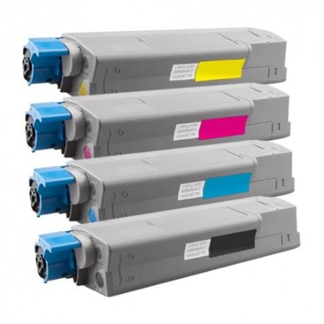 4x Toner Oki 44315308, 44315307, 44315306, 44315305  - C/M/Y/K kompatibilní - Oki C610, C610DN, C610N, C610DTN