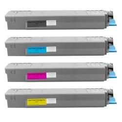 4x Toner Oki 44059108, 44059107, 44059106, 44059105  - C/M/Y/K kompatibilní - Oki C810, C810DN, C810N, C830, C830DN, C830N