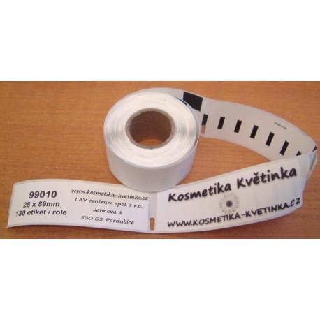 Etikety / Štítky Dymo Label Writer 89x28mm, 99010, S0722370,  130ks kompatibilní - DYMO
