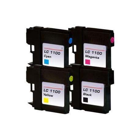 Sada 4ks Brother LC1100 / LC-980 XLpson T0615 DCP-145, 165, MFC-250, 490 - kompatibilní inkoustové náplně (cartridge)