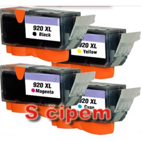 Sada 4ks HP 920XL (920 XL)  HP OfficeJet 6000, 6500, 7000 - kompatibilní inkoustové náplně (cartridge) - HP