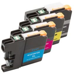 Sada 4ks Brother LC-123 (LC-123BK, LC-123C, LC-123M, LC-123Y) - J470DW, J132W, J152W, J552- komp. inkoustové náplně (cartridge)