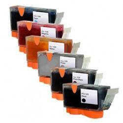 Sada 6ks Canon PGI-525 / CLI-526 (PGI525, CLI526, CLI526G) PIXMA - komp.inkoustové náplně (cartridge) - MG6150, MG6250, MG8150