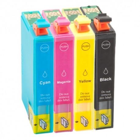 Sada 4ks Epson T1636 (T1631, T1632, T11633, T1634) Epson Workforce: WF-2010W - kompatibilní inkoustové náplně (cartridge)