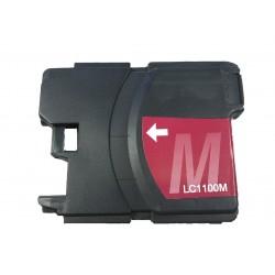 Cartridge Brother LC-1100M / LC-980M červená (magenta) - DCP-145,DCP-165,MFC-250,MFC-490,MFC-670-kompatibilní inkoustová náplň