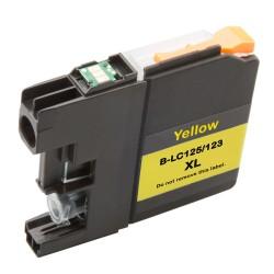 Cartridge Brother LC-123Y (LC-123) žlutá (yellow) - J470DW, J132W, J152W, J552 - kompatibilní inkoustová náplň