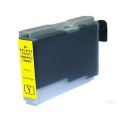 Cartridge Brother LC-1000Y / LC-970Y žlutá (yellow) - DCP-130,DCP-135,DCP-770,MFC-235,MFC-360 - kompatibilní inkoustová náplň
