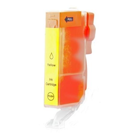 Cartridge Canon CLI-521Y (PGI520, CLI521) žlutá (yellow) - kompatibilní inkoustová náplň - IP-3600,IP-4600,MP-550, MP-540