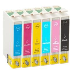 Sada Epson T0807 (T0801, T0802, T0803, T0804, T0805, T0806) Stylus Photo - kompatibilní inkoustové náplně (cartridge) - Epson