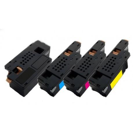 4x Toner Dell C1660 / C1660W - C/M/Y/K 4G9HP, V53F6, DWGCP, V3W4C, 7C6F7 vysokokapacitní kompatibilní