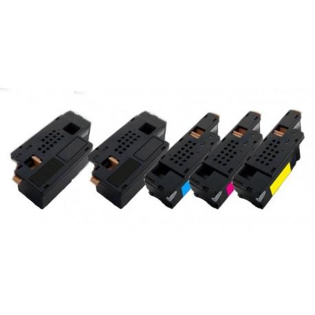 5x Toner Dell C1660 / C1660W - C/M/Y/2xK 4G9HP, V53F6, DWGCP, V3W4C, 7C6F7 vysokokapacitní kompatibilní