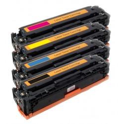 4x Toner HP CB540A, CB541A, CB542A, CB543A (CB540, 125A)LaserJet CP-1210, CM-1312, CP-1214, CP-1515-C/M/Y/K kompatibilní
