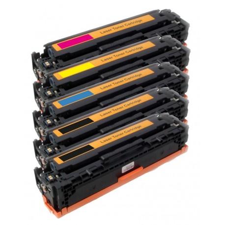 5x Toner HP CB540A, CB541A, CB542A, CB543A (CB540, 125A) LaserJet CP-1210, CM-1312,/ CP-1214, CP-1515-C/M/Y/2xK kompatibilní
