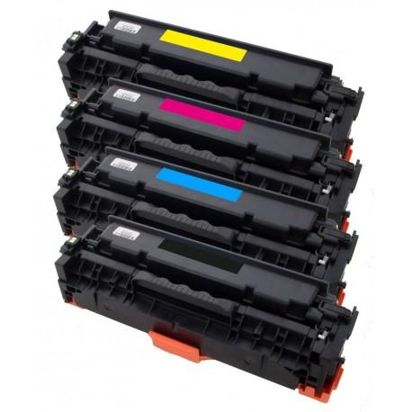 4x Toner HP CC530A, CC531A, CC532A, CC533A (304A) LaserJet CP2025 / CM2320 / CM 2720 - C/M/Y/K kompatibilní