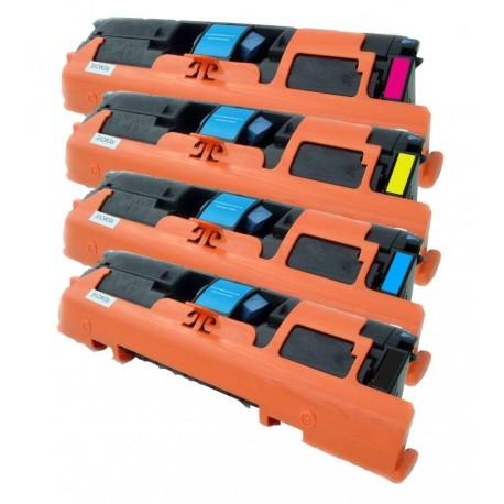 4x Toner HP Q3960A, Q3961A, Q3962A, Q3963A (122A) LaserJet 1500 / 2550 / 2820 / 2840 - C/M/Y/K kompatibilní