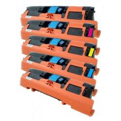 5x Toner HP Q3960A, Q3961A, Q3962A, Q3963A (122A) LaserJet 1500 / 2550 / 2820 / 2840 - C/M/Y/2xK kompatibilní