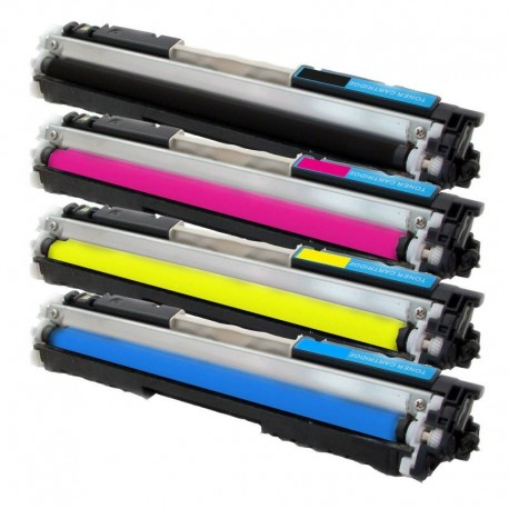 Sada 4x Toner HP CE310A, CE311A, CE312A, CE313A, 126A LaserJet CP1025 / Pro 100 Color MFP M175A - C/M/Y/K kompatibilní