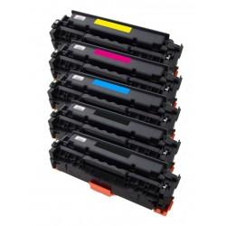 5x Toner HP CE410X, CE411A, CE412A, CE413A (305X, 305A) LaserJet 300 Color M351A / 400 Color M475DW - C/M/Y/2x K kompatibilní