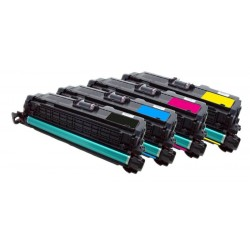 4x Toner HP CE250X, CE251A, CE252A, CE253A (504X, 504A, CE250A) LaserJet CP3520 / CP 3525 / CP3530 - C/M/Y/K kompatibilní