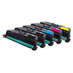 5x Toner HP CE250X, CE251A, CE252A, CE253A (504X, 504A, CE250) LaserJet CP3520 / CP 3525 / CP3530 - C/M/Y/2x K kompatibilní