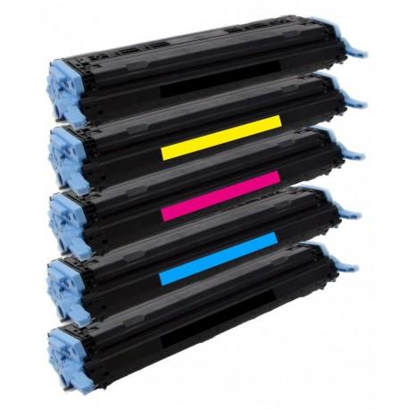 5x Toner HP Q6000A, Q6001A, Q6002A, Q6003A LaserJet 1600 / 2600 / 2605 / CM-1015 - C/M/Y/2x K kompatibilní