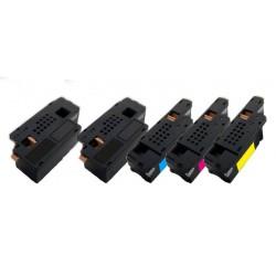 5x Toner Epson pro C1700, CX17N, CX17NF, C1750 (C13S050614, C13S050613, C13S050612, C13S050611) - C/M/Y/2x K kompatibilní