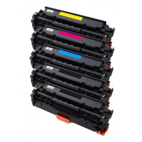 5x Toner Canon CRG-718 (CRG-718Bk, CRG-718C, CRG-718M, CRG-718Y) - LBP-7200CDN, MF8330CDN, MF8350CDN - C/M/Y/K komp.