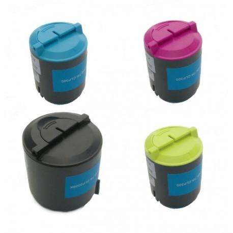 4x Toner SAMSUNG CLP-P300A (K300A, Y300A, M300A, C300A, P300C) - C/M/Y/K komp. - CLP-300, CLX-2160, CLX-3130, CLX-3160